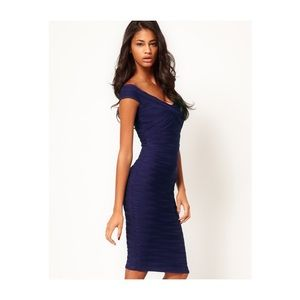 Rubbed BodyCon Midi Dress